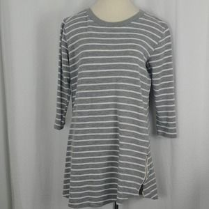 Thyme and Honey striped tunic/dress (size large)